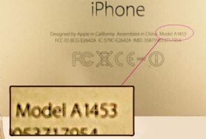 iPhoneのモデルナンバー確認する方法について