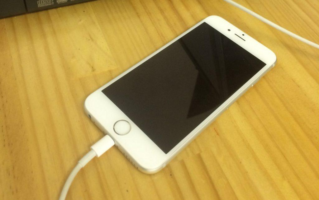 iPhoneの電源が入らない際の画像