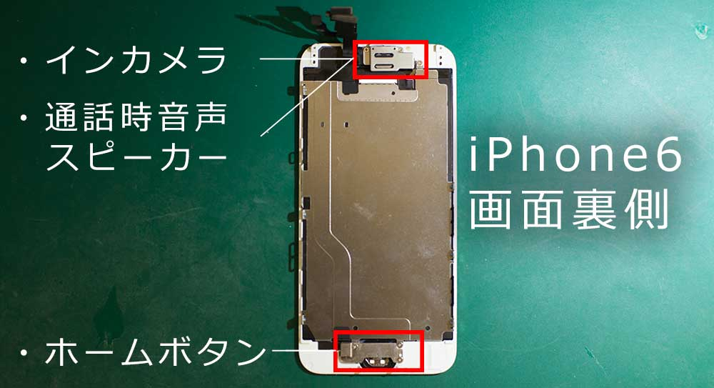 iPhoneの画面の裏側の写真